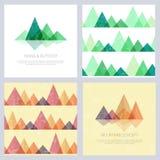 Montañas abstractas en estilo geométrico Imagen de archivo libre de regalías