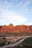 Montañas además del río amarillo fotografía de archivo