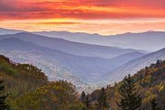 Montañas ahumadas Fotos de archivo