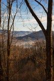 Montañas ahumadas Fotografía de archivo