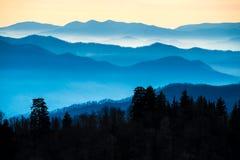 Montañas ahumadas en Tennessee foto de archivo