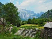 Montañas albanesas Fotos de archivo