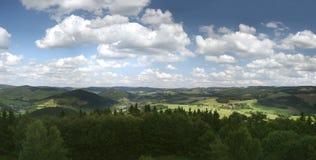 Montañas alemanas de Sauerland Imágenes de archivo libres de regalías