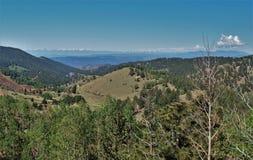 Montañas alrededor de la cala del lisiado, Colorado imagen de archivo