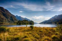 Montañas alrededor del lago Shiel HDR fotografía de archivo libre de regalías
