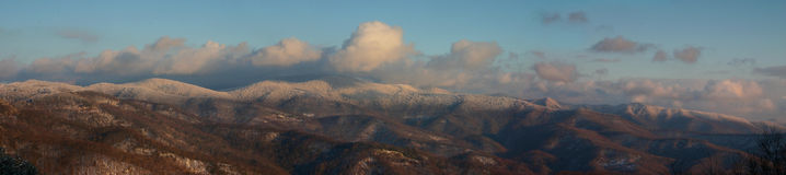 Montañas apalaches en nieve Fotografía de archivo
