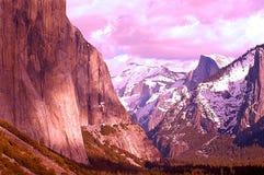 Montañas artísticas Foto de archivo libre de regalías