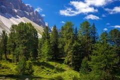 Montañas asombrosas de la dolomía Foto de archivo libre de regalías