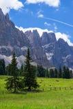 Montañas asombrosas de la dolomía Fotos de archivo libres de regalías