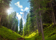 Montañas asombrosas de las dolomías Fotografía de archivo libre de regalías