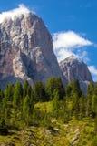 Montañas asombrosas de las dolomías Foto de archivo