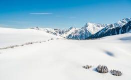 Montañas austríacas, estación de esquí de Mayrhofen Fotografía de archivo libre de regalías