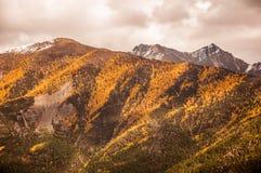 Montañas Autumn Scenery en Szechwan Fotos de archivo libres de regalías