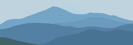 Montañas azules Fotos de archivo libres de regalías