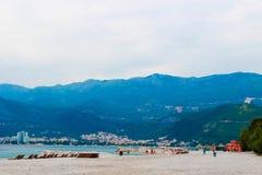 Montañas azules en Montenegro imagen de archivo