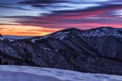 Montañas balcánicas Foto de archivo
