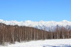 Montañas blancas de los acantilados Imagen de archivo libre de regalías
