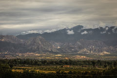 Montañas blancas, en la provincia de San Juan, la Argentina imagenes de archivo