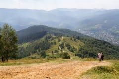 Montañas cárpatas en Ucrania Fotografía de archivo
