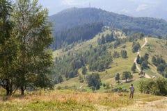 Montañas cárpatas en Ucrania Fotografía de archivo libre de regalías