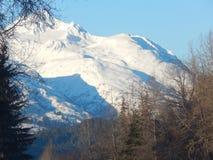 Montañas capsuladas nieve a lo largo de Haines Highway Fotografía de archivo libre de regalías