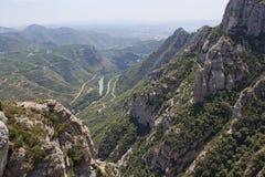 Montañas cerca de Barcelona Imagen de archivo libre de regalías