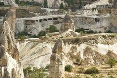 Montañas cerca de Goreme, Cappadocia, Turquía foto de archivo libre de regalías