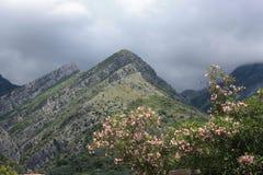Montañas cerca de la barra vieja Foto de archivo