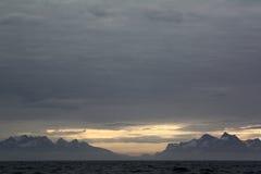 Montañas cerca de Nuuk imágenes de archivo libres de regalías