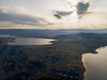 Montañas cerca del lago Bannoe, república Bashkortostan, Rusia Imagenes de archivo
