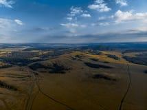 Montañas cerca del lago Bannoe, república Bashkortostan, Rusia Fotos de archivo