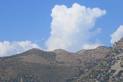 Montañas Cielo Nubes Imagen de archivo