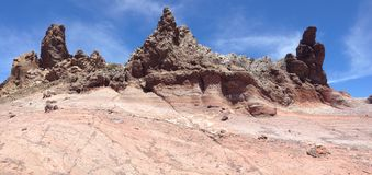 Montañas coloreadas Imagen de archivo libre de regalías