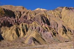 Montañas coloridas foto de archivo