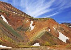 Montañas coloridas Imagen de archivo libre de regalías
