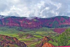 Montañas coloridas Fotos de archivo libres de regalías