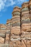 Montañas coloridas de Quebrada de las Conchas, la Argentina Foto de archivo libre de regalías