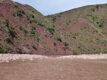 Montañas coloridas hermosas cordillera de los Frailes en Bolivia Fotografía de archivo