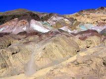 Montañas coloridas a lo largo del artista Drive Fotografía de archivo libre de regalías