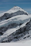 Montañas con un glaciar Imágenes de archivo libres de regalías
