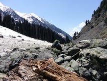 Montañas coronadas de nieve de Cachemira, Srinagar, la India Fotos de archivo
