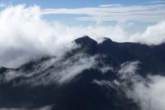 Montañas cubiertas en la niebla, extremo del ` s del mundo, llano de Hortons, Sri Lanka Fotos de archivo