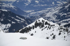 Montañas de Adelboden Imagen de archivo libre de regalías
