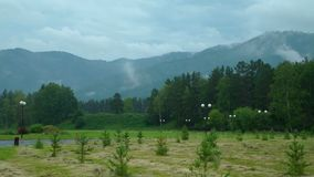 Montañas de Altai en verano almacen de video
