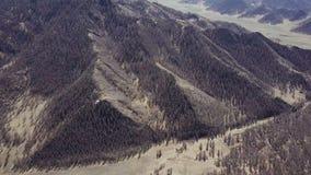 Montañas de Altai Paisaje hermoso de la montaña Rusia siberia Vuelo en quadcopter almacen de video
