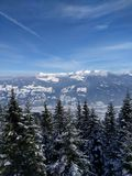 Montañas de Austria Imágenes de archivo libres de regalías
