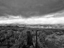 Montañas de Autumn Storm On The Sierra Fotos de archivo libres de regalías