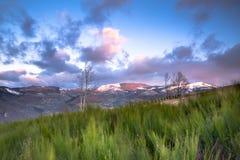 Montañas de Auvergne Fotografía de archivo