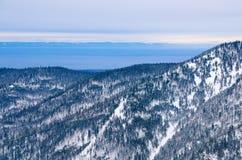 Montañas de Baikal en invierno Fotografía de archivo libre de regalías