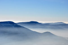 Montañas de Beskydy fotografía de archivo